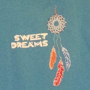 🇺🇸Sweet Dreams aqua tot t, southwestern feathers